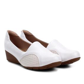 0057d6e4f5 Scarpin Anabela Salto Baixo Feminino - Sapatos no Mercado Livre Brasil