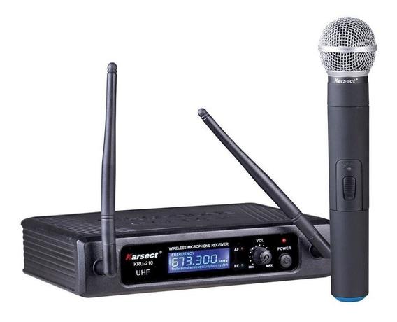 Microfone Sem Fio Karsect Kru-210 Mão Uhf