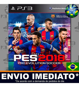 Pes 18 2018 Jogo Ps3 Psn Digital 100% Português Brasil