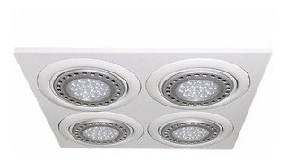Spot Panel Embutir Ar111 Cardanico 4 Luces Blanco Led 48w