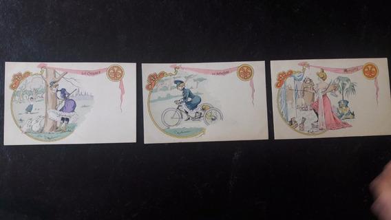 3 Tarjetas Postales Colecc. George Mouton Consultar Stock