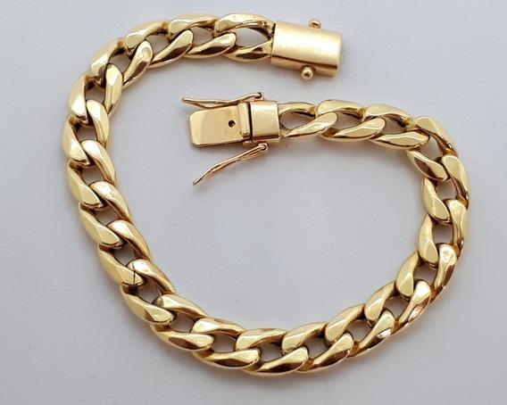 Pulseira Grumet De Ouro 18k - 23 Gramas E 23cm