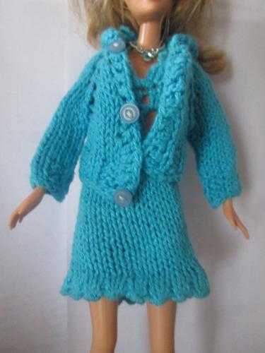 Imagen 1 de 8 de Ropa Para  Barbie-   4 Prendas Tejidas X $290