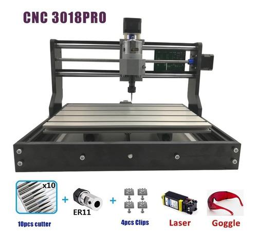 Imagen 1 de 8 de Cnc 3018 Pro Grabador Láser Acero,aluminio Y Madera Er11 10w