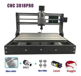 Cnc 3018 Pro Grabador Láser Madera Enrutadorgrbl Er11 5500mw
