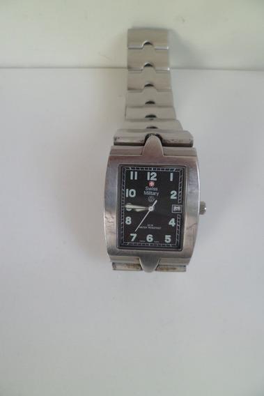 Relógio De Pulso Em Aço Inox Victorinox Modelo Militar