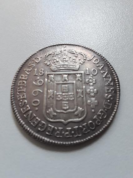 Moeda Antiga 960 Réis 1810b, Regenes, 12xs/juros (gg90428)