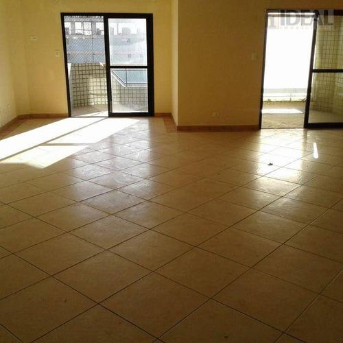 Apartamento Com 3 Dormitórios À Venda, 161 M² Por R$ 479.000,00 - Canto Do Forte - Praia Grande/sp - Ap3172