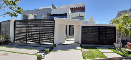 Casa Contemporânea Super Luxuosa 502m² De Área Construída Com 4 Suítes, No Recreio Dos Bandeirantes  - 2812