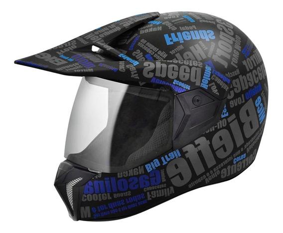 Capacete Moto Bieffe 3 Sport Mirror Cross Fechado 3 Em 1