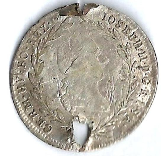 Austria 1788 10 Kreuzer Moneda Antigua De Plata Xxz087
