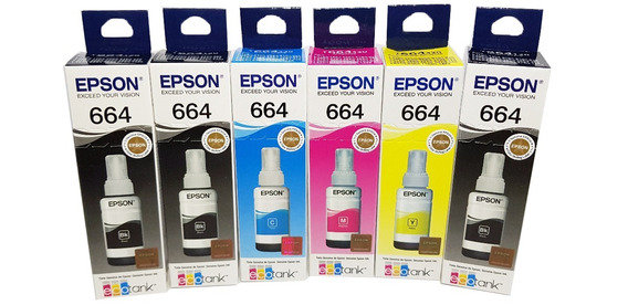 Kit 6 Tintas 664 L375 L220 L200 L110 L455 L365 L355 L1300