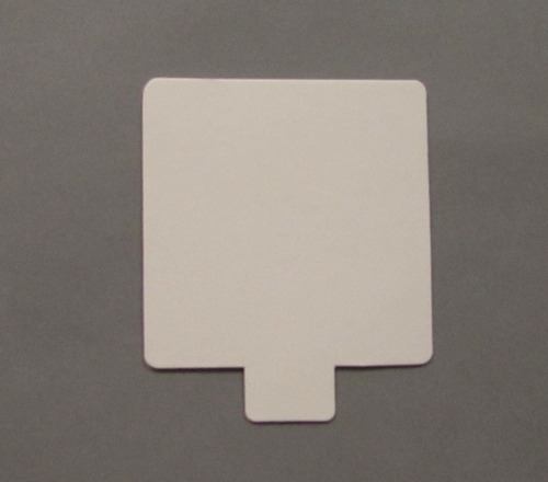 Base Cuad Plast Ppm Blanco Mate 8x8 C/pest  (x100 U.) - 151