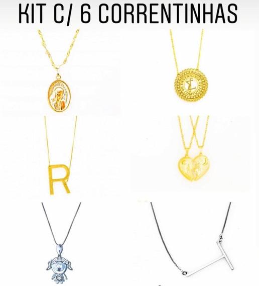 Kit Com 6 Correntinhas - Kt23 // R$5,90 Cada Colar Bijuteria