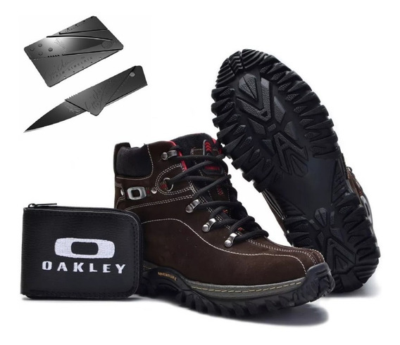 Bota Coturno Adventure Tênis Oakley Masculina Promoção Kit