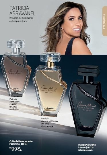 02 Perfumes Diferentes: Patricia Abravanel Feminina