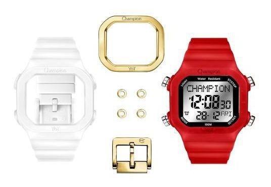Relógio Champion Yot Troca Pulseira Vermelho Original + Nf