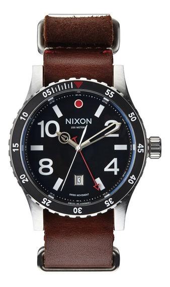 Reloj Nixon Diplomat Piel Negro - Cafe A269-019 Garantia