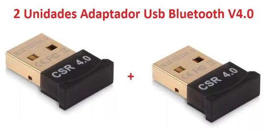 2 Unidades Adaptador Usb Bluetooth V4.0 Windows 7 8 10