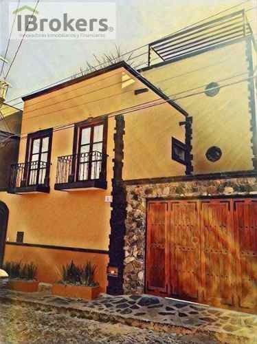 Casa Renta San Miguel De Allende. Casa Refugio. Vista Única A Catedral. Amueblad