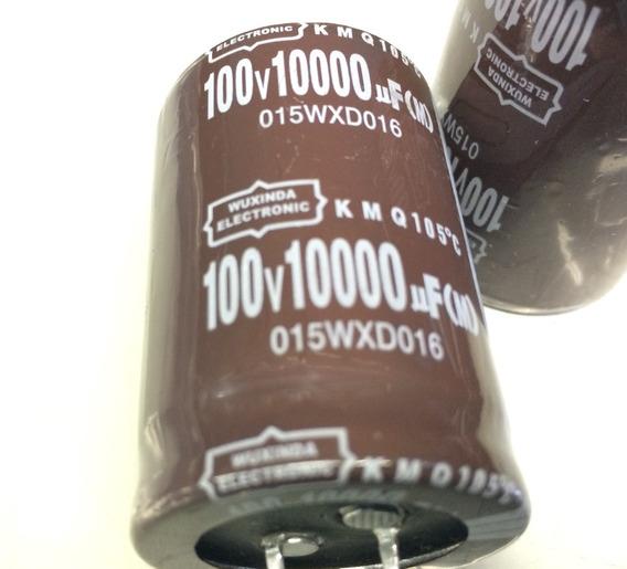 02 Capacitor Eletrolitico 10.000uf X 100v