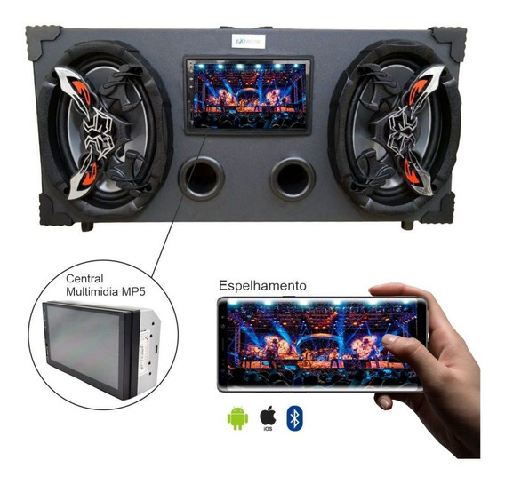 Caixa Amplificada Bluetooth Bar Usb 6x9 Bomber + Multimidia