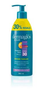 Dermaglos Protector Solar Fps 30 Emulsion X 380ml Familiar