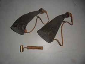 Polvorinho E Porta Chumbo De Chifre Bovino-+dosador C