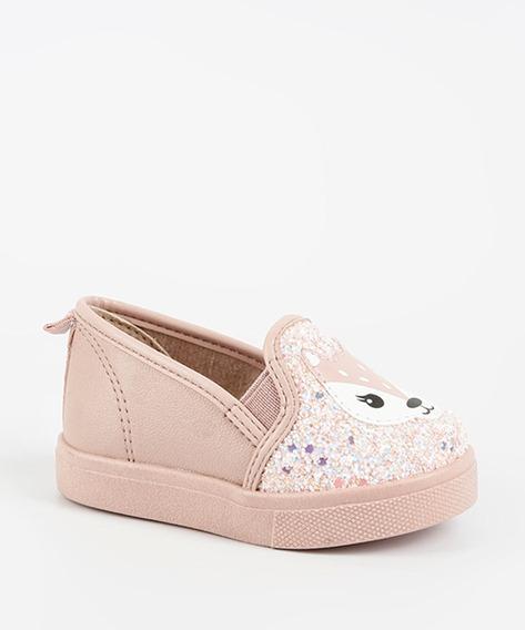 Tênis Bebê Molekinha Rosa Glitter - Linha Baby 2118.124