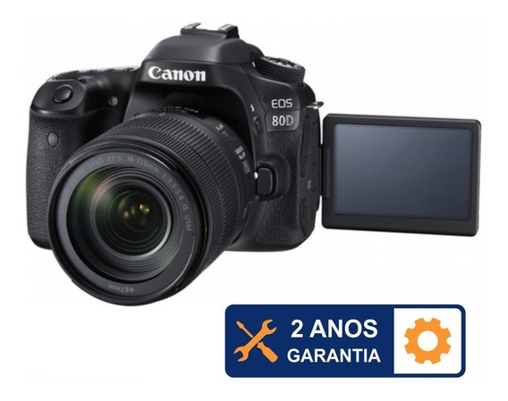 Kit Canon Eos 80d C/ 18-135mm F3.5-5.6is Garantia 2 Anos