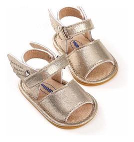 Sandália Bebê Menina Dourada