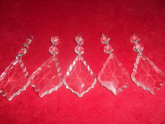 Caireles Cristal Plaquetas 63mm X5 2botones Armado Argolla