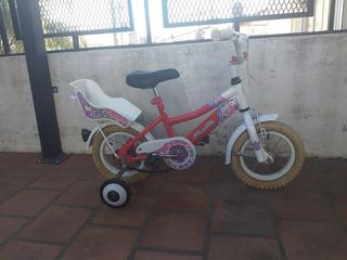 Bicicleta Musetta Paseo Nena Rodado 12 Como Nueva Y Lista!
