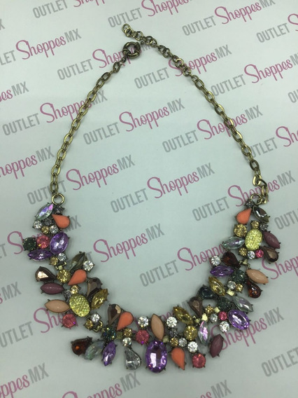 Collar Boreal Dama Pedreria Multicolor *defecto*