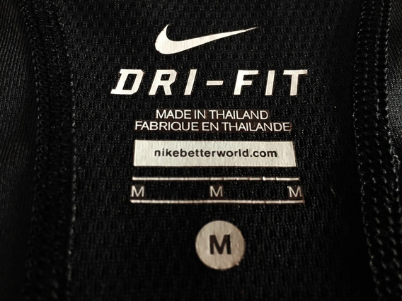 Musculosa Dri Fit Lycra Nike Negra Excelente Estado!!