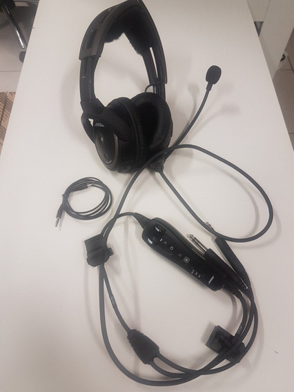 Fone Com Microfone Headset Bose A20 - Helicóptero Ou Avião