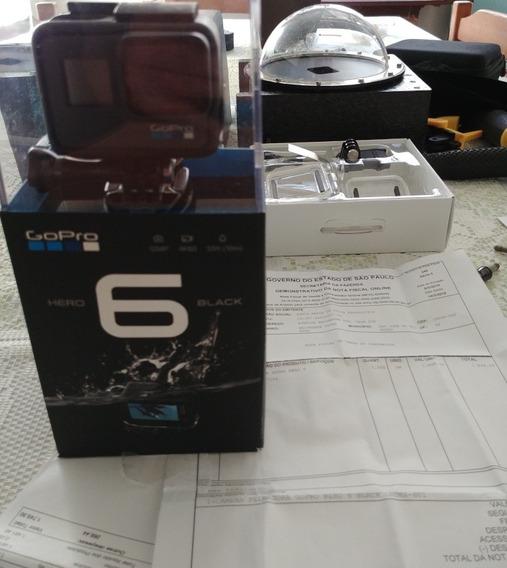 Gopro Hero 6 Black Na Caixa Com Acessórios E Nf