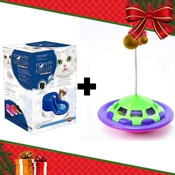 Kit 2 - Fonte Bebedouro Furacao Azul 220v + Brinquedo