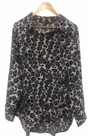 Camisa De Mujer Vestir Fibrana Leopardo