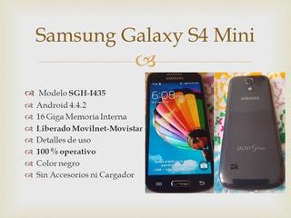 Samsung S4 Mini 16 Giga Liberado Usado 45 Trums