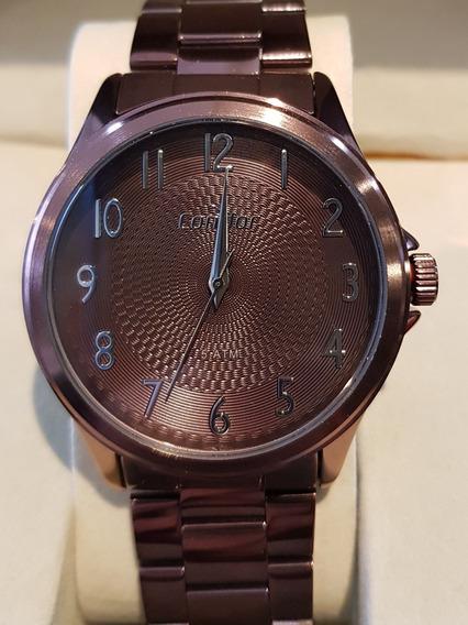 Relógio Feminino Chocolate Condor Co2036mug/4m