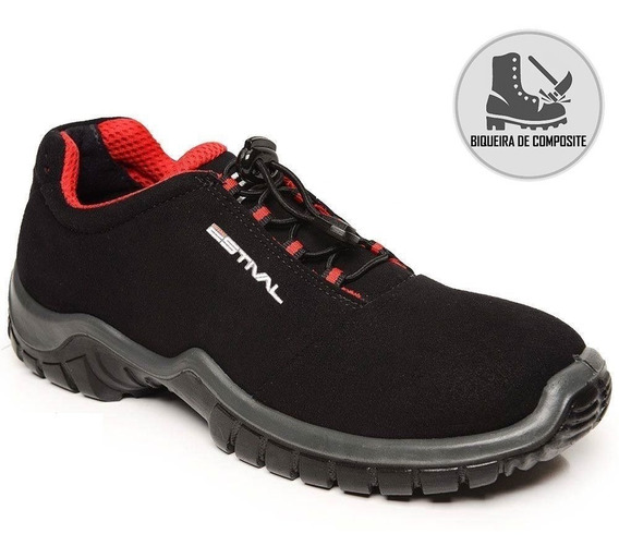 Sapato Segurança Preto/vermelho Composite Estival En10023