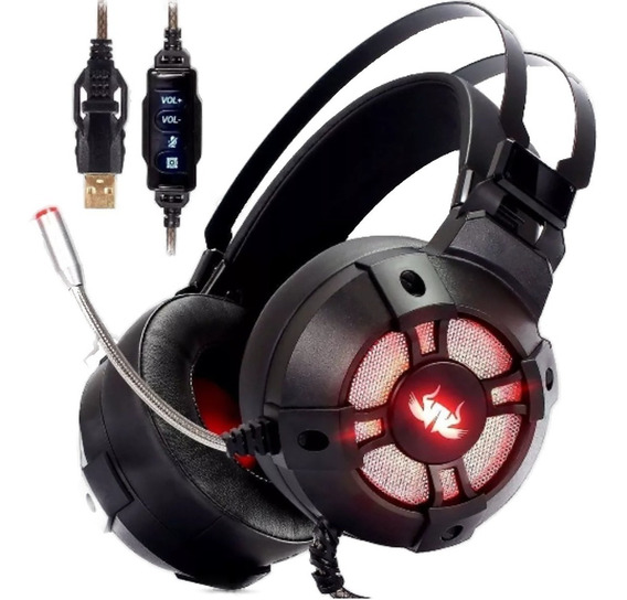 Fone Headset Gamer 7.1 Usb Sistema De Vibracao Pc Ps3 Ps4 Ld