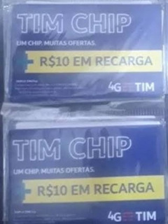 20 Chip Tim Combo Com 10 Reais De Recarga