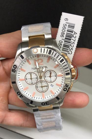 Relógio Nautica Cronografo A27525g Na Altarelojoaria