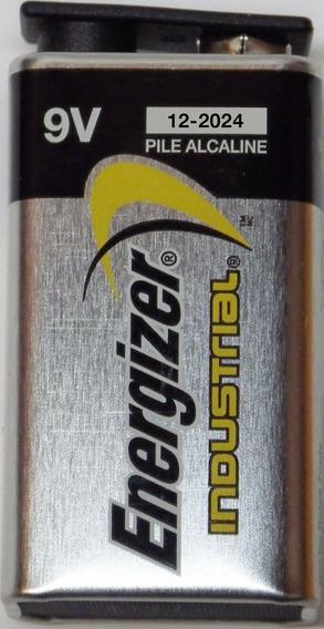 Pila 9 Voltios 9v Cuadrada Alcalina Energizer Industrial X 2
