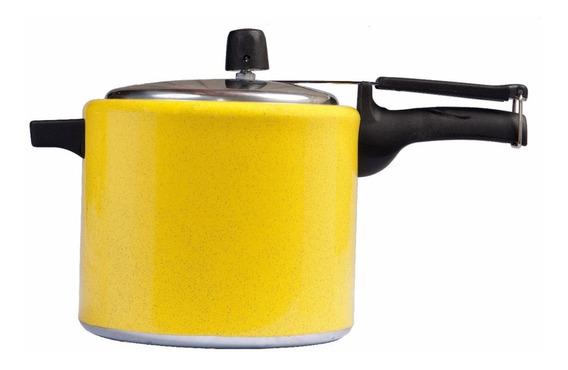 Panela De Pressão 4,5 Litros Alumínio Amarela Forusi
