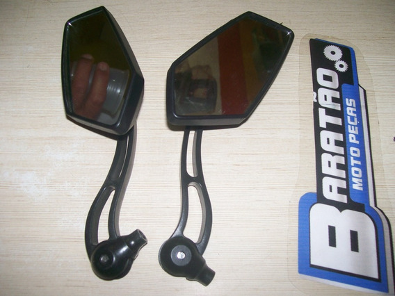 Par De Retrovisor Cbx Strada Aero Cg 125 150 Ybr Yes Dafra