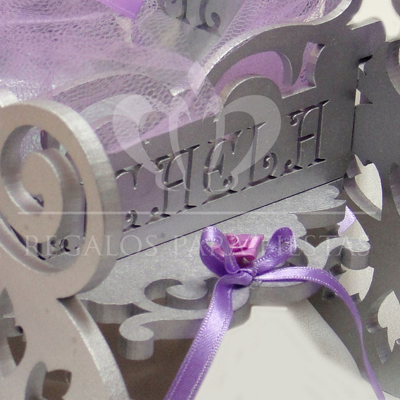 Bodas - 15 Años -candy Bar- Carroza Para Ceremonia De Cintas