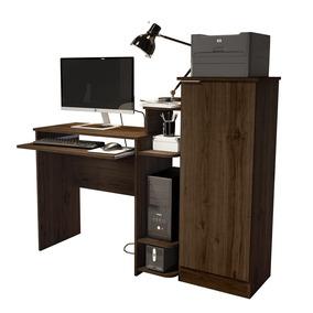 Mesa Computador Note Multiuso Com Armário Office Flex
